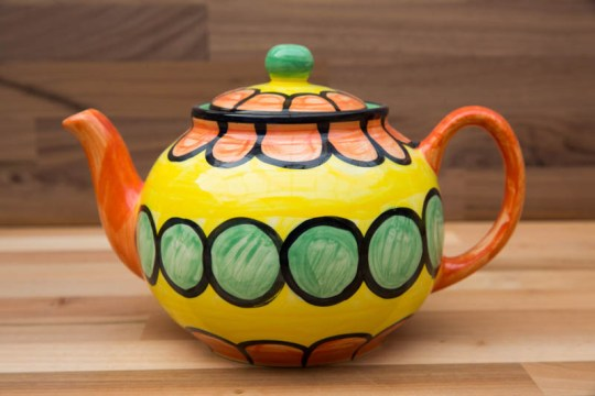 Fruity large Teapot in Orange