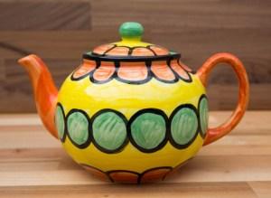 Fruity extra large Teapot in Orange