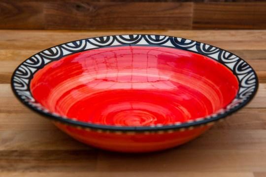 Aztec pasta bowl in red