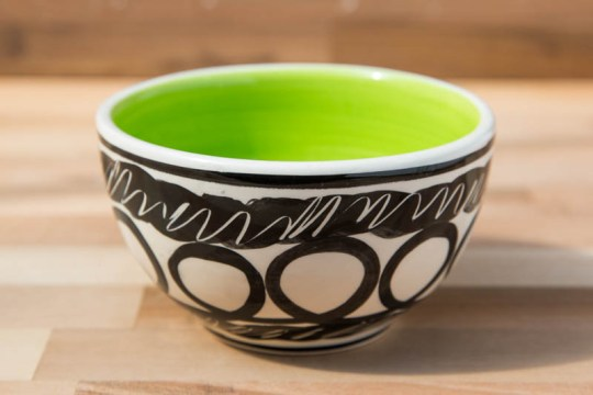 Black and White sugar bowl in Scribble