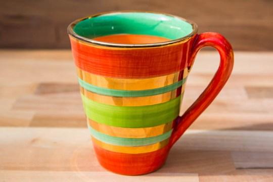 Lustre Horizontal large tapered mug in No.02
