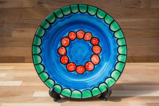 Fruity 11″ dinner plate in Green