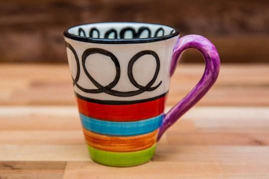 Hi-Life Gaudy large tapered mug in Scribble