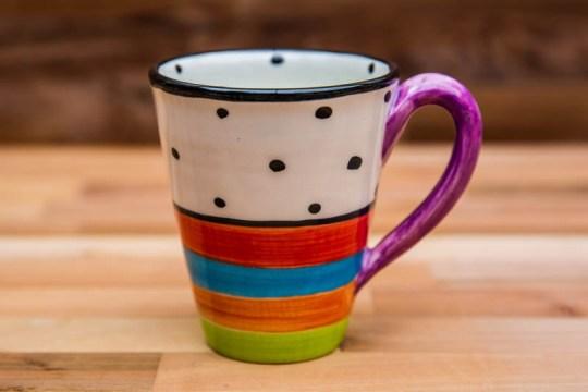 Hi-Life Gaudy large tapered mug in Polka Dot