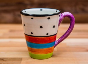 Hi-Life Gaudy large tapered mug in Polka Dot