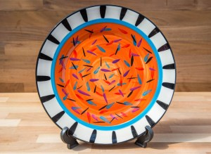 Splash 11″ dinner plate in orange