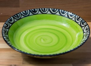 Aztec salad/fruit bowl in lime green