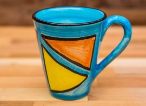 Carnival large tapered mug in Pale Blue