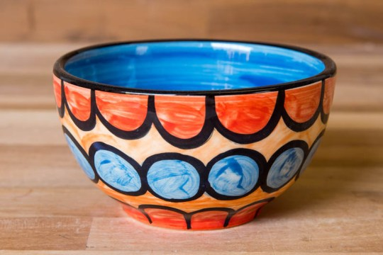 Fruity sugar bowl in Red