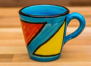Carnival small tapered mug in Pale Blue
