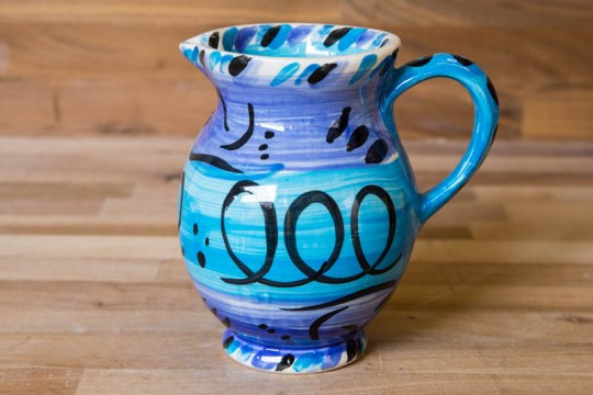 Aztec small jug in bright blue