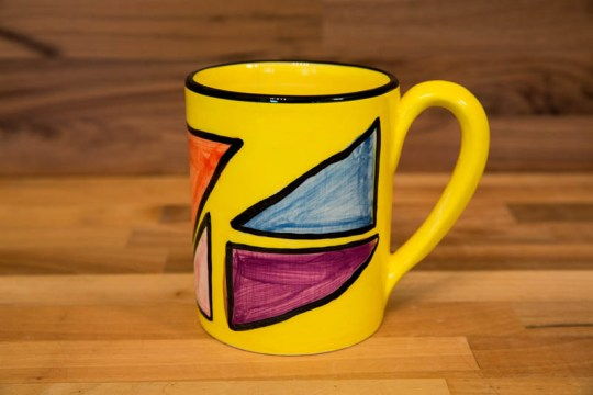 Carnival parallel pint mug in Yellow