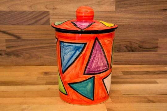 Carnival storage jar in Red