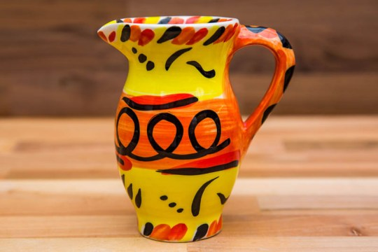 Abstract creamer jug in yellow