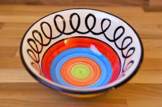 Hi-Life Gaudy cereal bowl in scribble