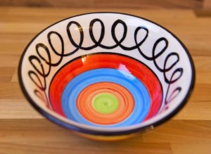 Hi-Life Gaudy cereal bowl in scribble