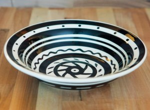 Black and White pasta bowl in Banded