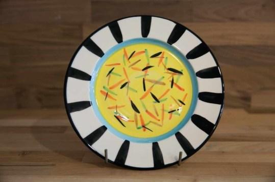 Splash 8″ side plate in yellow