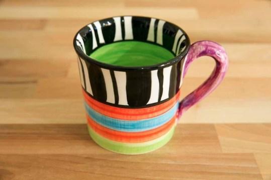 Hi-Life Gaudy wide mug in Broad Stripe
