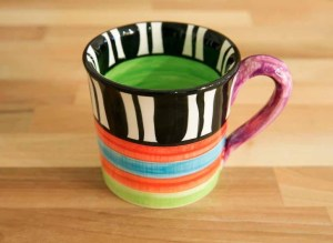 Hi-Life Gaudy wide mug in Broad Stripe