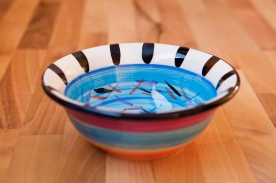 Splash cereal bowl in pale blue