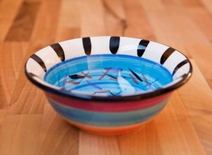 Splash cereal bowl in pale blue