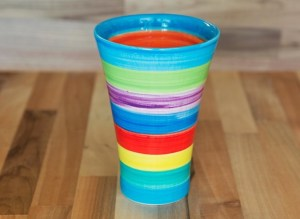 Horizontal Stripey small vase in Candy