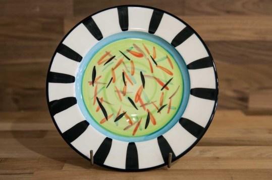 Splash 8″ side plate in Lime Green
