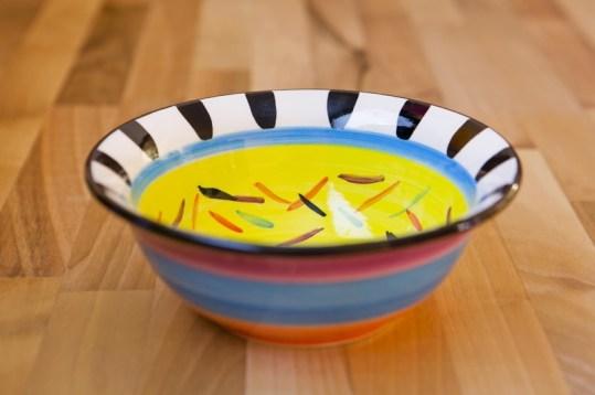 Splash cereal bowl in yellow