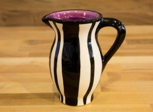 Black and White creamer jug in Broad Stripe