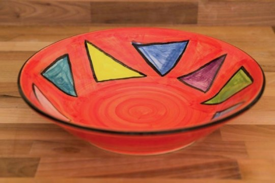 Carnival salad/fruit bowl in Red