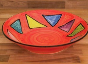 Carnival salad/fruit bowl in Red
