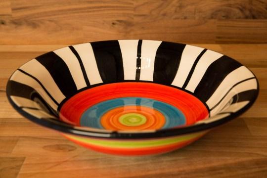 Hi-Life Gaudy pasta bowl in Broad Stripe