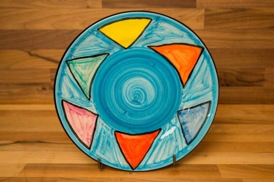 Carnival 8″ side plate in Pale Blue