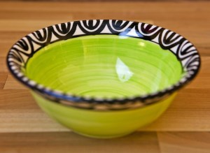 Aztec cereal bowl in lime green Reckless Designs
