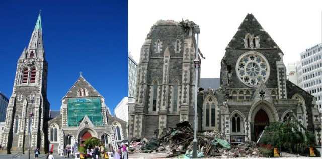 Christchurch Cathedral during #eqnz