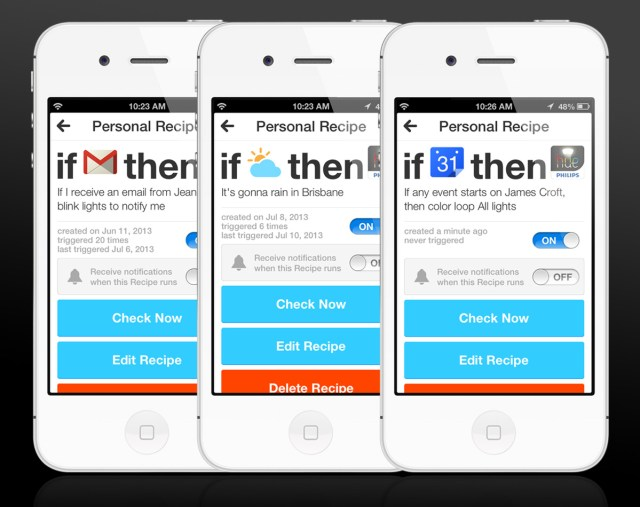 Hue can integrate with the new IFTTT app