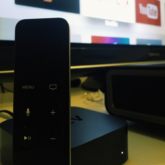 AppleTV next to the TV