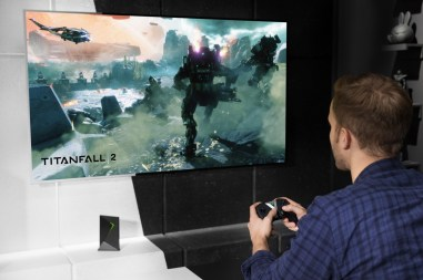 Titanfall 2 being streamed from a local PC via GameStream