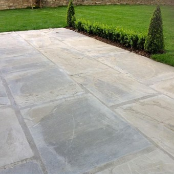 New Riven yorkstone patio garden