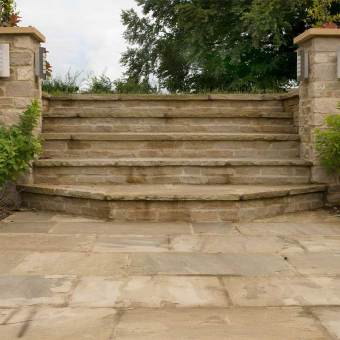 graded yorkstone steps
