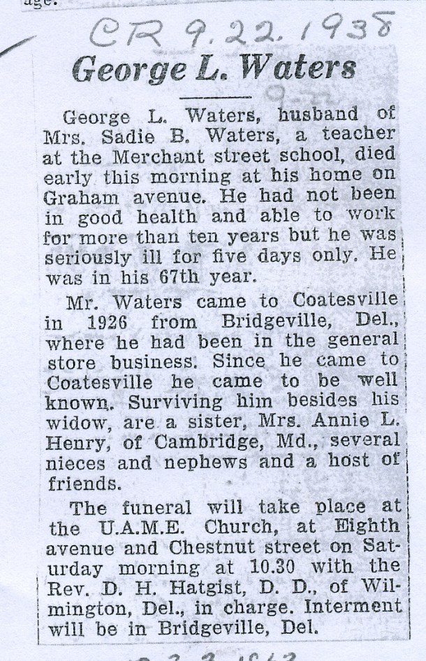 George's Obituary