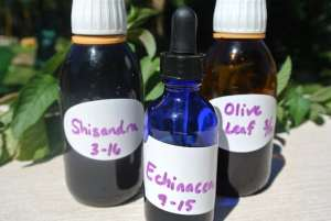 Homemade Tincture Bottles