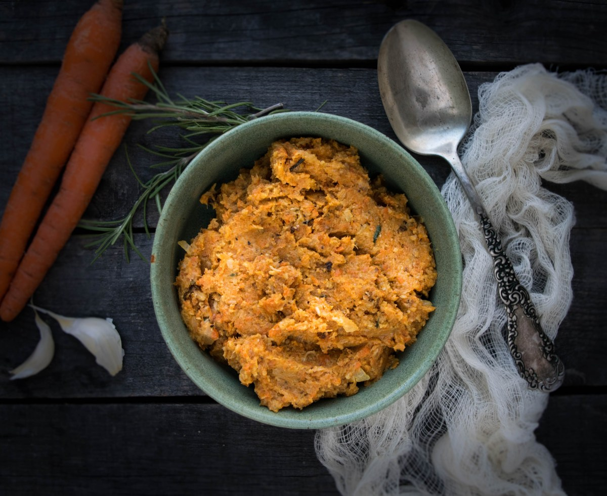 roasted cauliflower and carrot mash