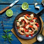 Sweet and Spicy Shrimp with Thai Basil and LIme