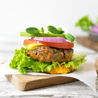 Grass Fed Beef and Veggie Burgers