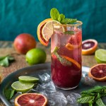 Blood Orange Mojito with Coconut Sugar