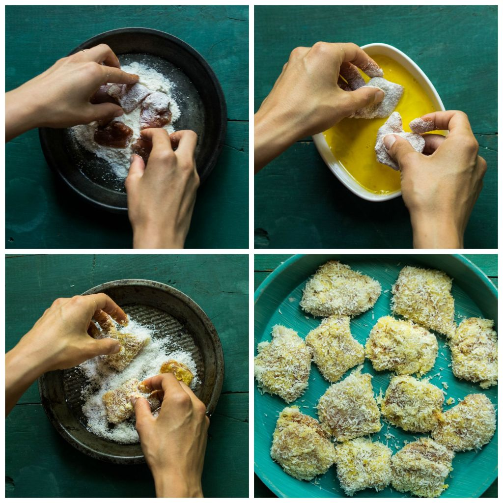 Coconut Chicken Nuggets: Coconut Crusted Chicken Lettuce Wraps With Mango Lime Salsa