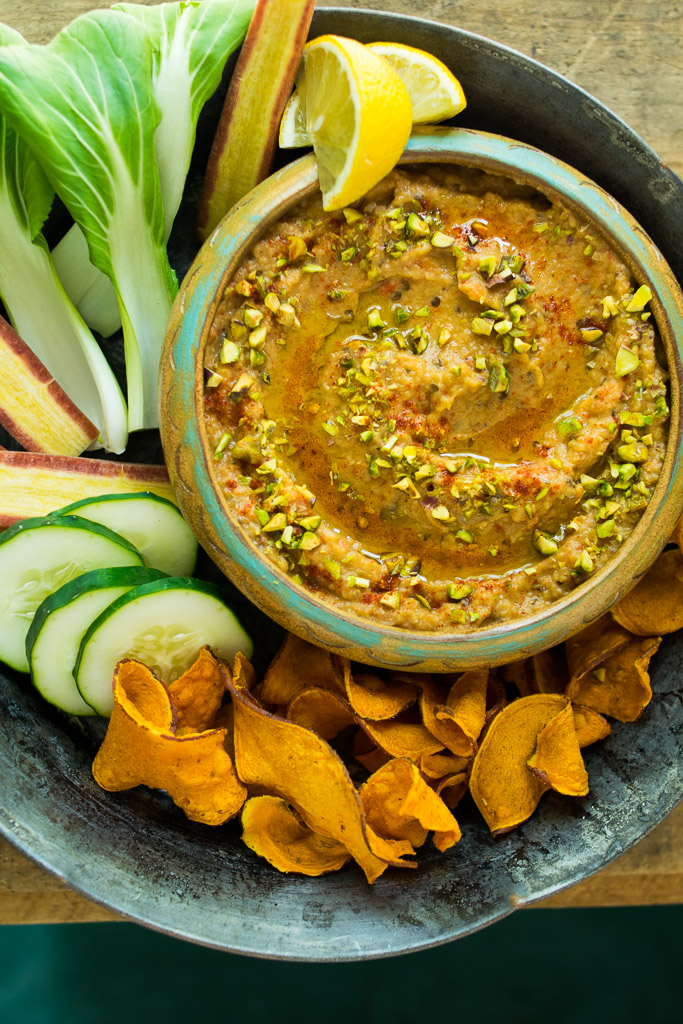 roasted red pepper baba ganoush