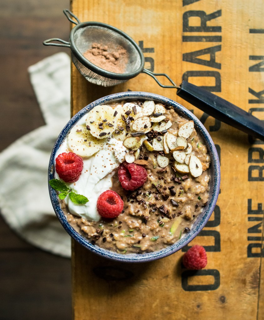 chocolate zucchini bread oatmeal
